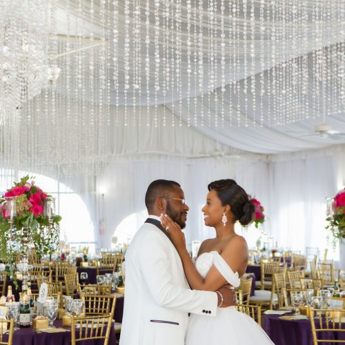 Lovely Purple Nigerian Wedding at Grace Gardens in El Paso, Texas
