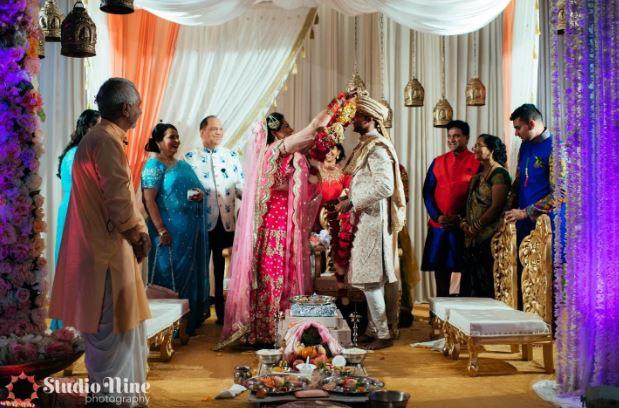 Varmala garland for the groom indian weddings