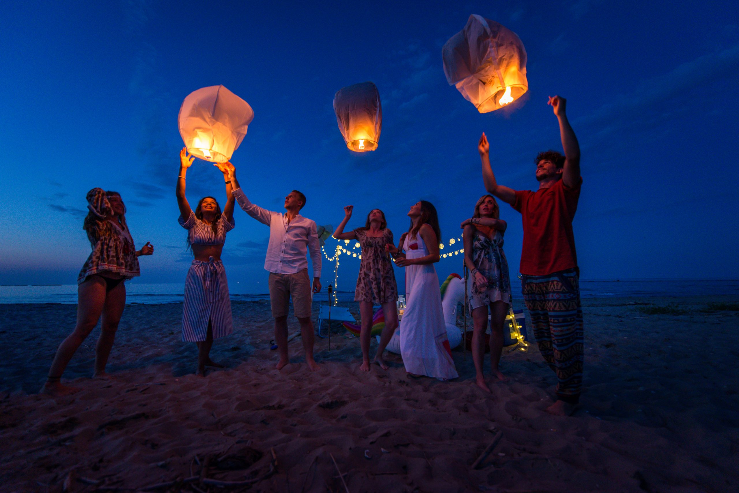 Wedding Lanterns Send Off